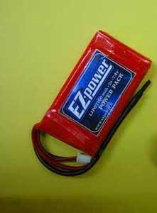 EZP1100/2 EZ-Power 2s LIPO battery (x2) 7,4v. 1100mah con Presa Bec