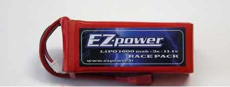 EZP1600/3 EZPower 3s Lipo Battery 11,1v. 1600mah