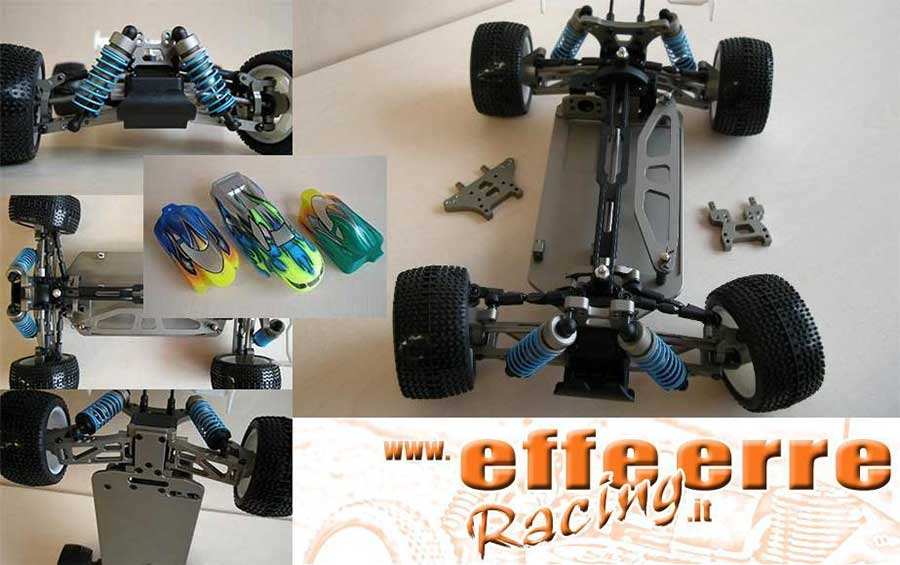 F18-PRO 1/18 Caster Racing Buggy-Truggy Kit di Montaggio