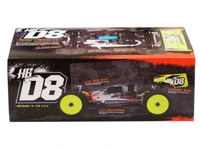 HBS67300 Hot Bodies D8 1/8 Off Road Competition Buggy Kit