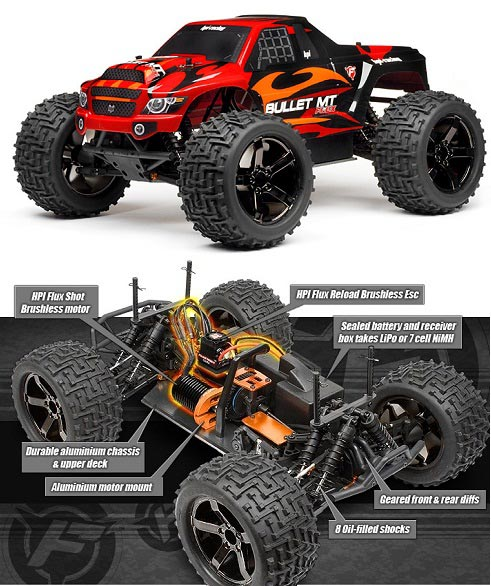 HP101403 HPI Racing Moster Truck 1:10 Bullet MT FLUX RTR