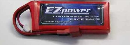 EZP1600/2 -2s EZ Power Lipo battery 7,4v. 1600mah