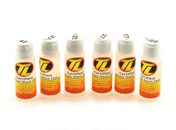 TLR74019 Team Losi  Kit Olio Silicone Shock   (17.5,22.5,27.5,32.5,37.5,42.5wt)