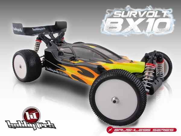 HT-SUR Hobbytech Automodello 1/10 Off Road Brushless 2.4GHZ Elettrica 4WD SURVOLT